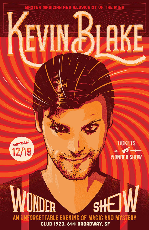 Kevin Blake Magician San Francisco Wonder Show Live